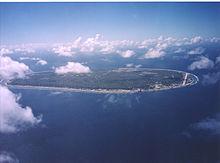 Luchtfoto van Nauru