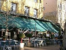 Een coffeeshop in Frankrijk