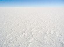 So sieht der größte Teil der Oberfläche der Antarktis aus.