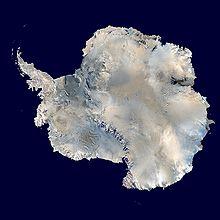Ein zusammengesetztes Satellitenbild der Antarktis