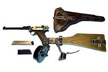 De Luger P08 kon volautomatisch vuren