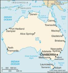 Mapa Australii