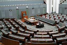 Die Kammer des australischen Repräsentantenhauses in Canberra.