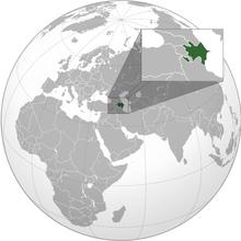 阿塞拜疆的位置