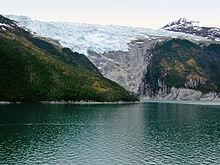 Uma geleira no Canal Beagle, no sul do Chile