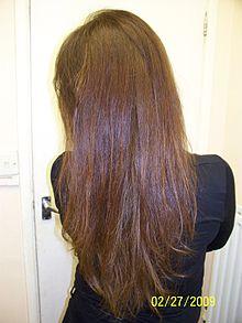 Langes, braunes Haar