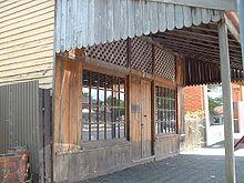 De laarzenwinkel in Benalla waar Ned Kelly zich in 1877 voor de politie verstopte...