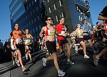 Lopers in de marathon van Berlijn in 2007