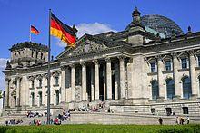 Het Rijksdaggebouw in Berlijn is de locatie van het Duitse parlement.