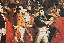 Наполеон во время государственного переворота 18 Брумера в Сен-Клауде.