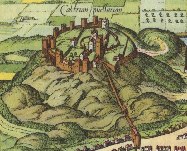 Castello di Edimburgo sul luogo di un vulcano spento, 1581 ca.