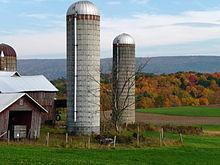 Een boerderij in Brunswick