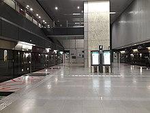 Caldecott station perron niveau.