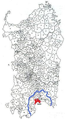 Cagliari Metropolitaan kaart