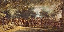 Kannibalenfeest op het eiland Tanna, Nieuwe Hebriden