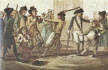 Persbende, Britse karikatuur van 1780