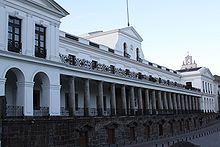 Presidentieel paleis in Quito, Ecuador