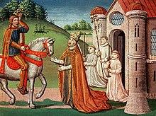 Karl der Große und Papst Adrian I.