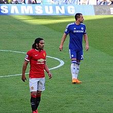 Falcao speelt voor Manchester United tegen Chelsea