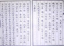 Früheste bekannte schriftliche Formel für Schießpulver, aus der Wujing Zongyao von 1044 n.Chr.