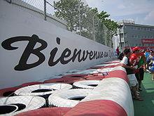 Hasło Bienvenue au Québec na Ścianie Mistrzów