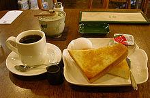 Koffie kan met voedsel worden gedronken
