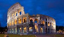 Het Colosseum in Rome. De oorspronkelijke naam is Flavian Amphitheatre, gebouwd onder de Flavian dynastie, een keizerlijke familie van het oude Rome.