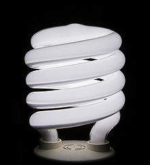 Een compacte fluorescentielamp, die sinds de invoering in het midden van de jaren negentig populair is bij Noord-Amerikaanse consumenten.