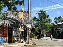 Kruispunt in Las Galeras.