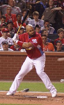Albert Pujols won de prijs drie keer, allemaal op het eerste honk met de St. Louis Cardinals.