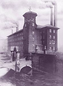 ダービー製糸場、おそらく1900年代初頭、1910年の火災前。