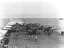TBD Devastators op de USS Enterprise tijdens de slag om Midway