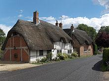 Huisjes in het dorp East Garston in Engeland