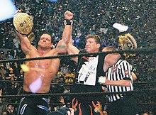 Chris Benoit en Eddie Guerrero op Wrestlemania 20, gehouden in Madison Square Garden.