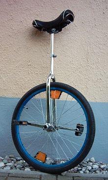 Een voorbeeld van een traditionele eenwieler.