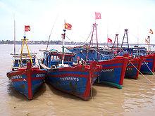 Bateaux de pêche à Dong Hoi.