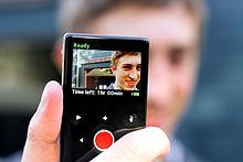 Gebruik van een pocket video camera