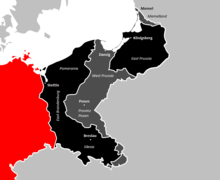 Территория, потерянная после Первой мировой войны Территория, потерянная после Второй мировой войны Нынешняя Германия