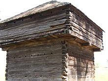 Fort, in dem die Cherokee vor dem Pfad der Tränen gefangen gehalten wurden