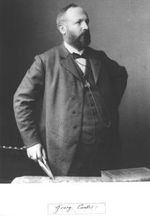 Georg Cantor, in 1894. Cantor was de eerste wiskundige die over verzamelingen sprak