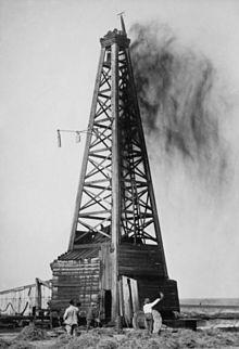 Oliebronnen zoals deze in Okemah brachten veel mensen naar Oklahoma...