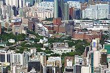 Kampus Hung Hom, widok od strony zachodniej