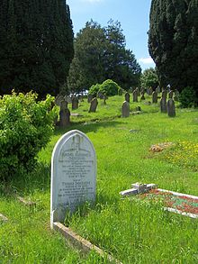 Heaviside's graf op de begraafplaats van Paignton