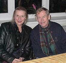Havel z amerykańską poetką, Hedwig Gorski