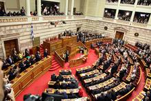 Das griechische Parlament befindet sich in Athen.