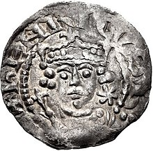 Karalius Henrikas I (1100-1135) nukalta moneta Visos Anglijos karalius