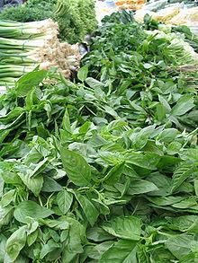 Basilicum, een kruid dat vaak in de keuken wordt gebruikt.