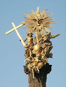 Sousoší ze sloupu Nejsvětější Trojice v Olomouci, Česká republika, 18. století