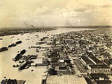 Calcutta, hier afgebeeld in 1945, was een belangrijke haven tijdens de Tweede Wereldoorlog.