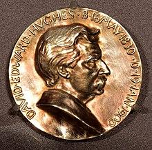 Avers van Hughes Medaille